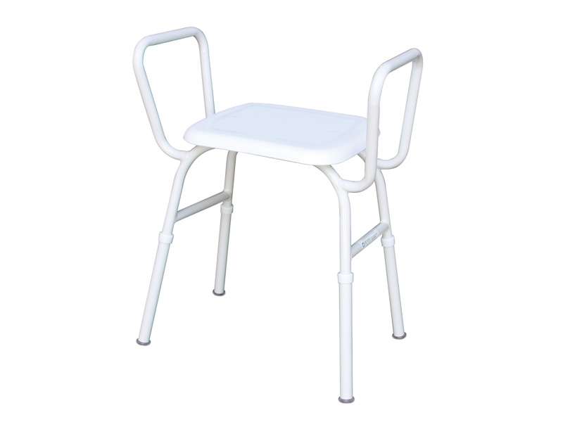 Shower Stool Aluminium Plastic Seat With Arms Better